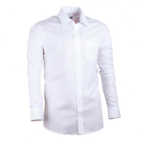 Biela pánska košeľa rovná spoločenská 100% bavlma non iron Assante 30003