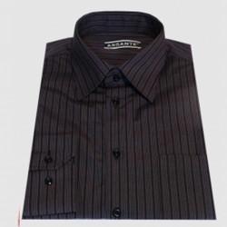 Predĺžená pánska košeľa čierno fialová Assante 20613