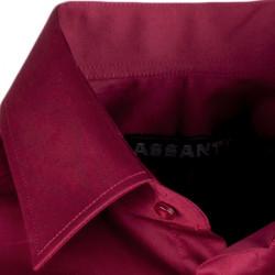 Bordó pánska košeľa s dlhým rukávom slim Assante 30371