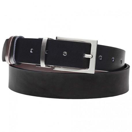 Čierny hnedý opasok k nohaviciam Assante 90803