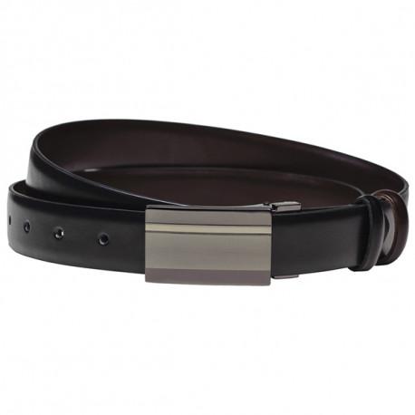 Čierny pánsky opasok kožený Assante 90805