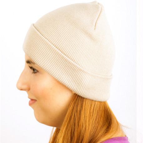 Béžová pletená čiapka zimná Assante 88058