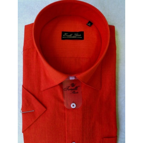 Červená pánské košile krátký rukáv Tonelli 110801