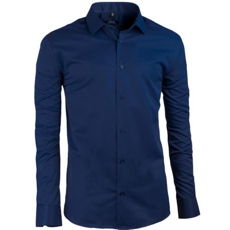 3b2439ead486 Slivkovo modrá pánska košeľa s dlhým rukávom slim fit Native 30402