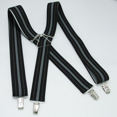 Čierne pánske traky Assante 90101