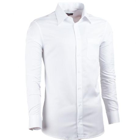 Biela pánska košeľa non iron slim fit Assante 30007