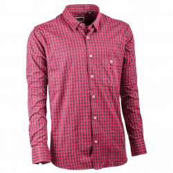 Tmavě červená pánská flanelová košile 100 % bavlna Tonelli 110900