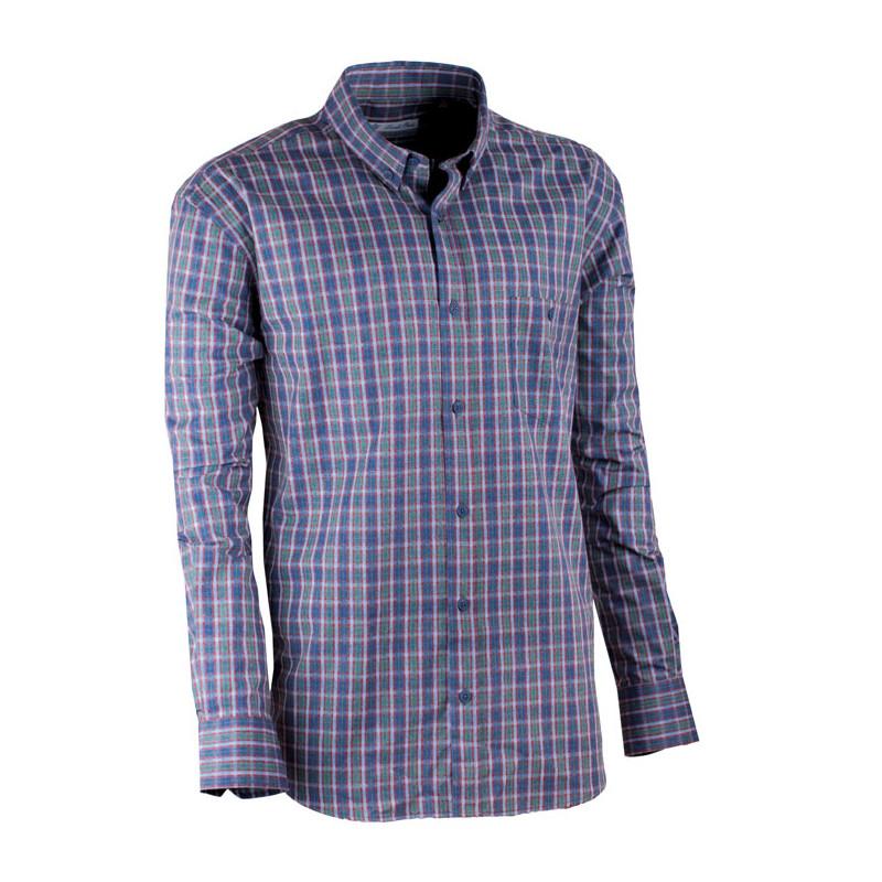 cd946303ca89 Zeleno-modrá luxusní pánská flanelová košile teplá Tonelli 110910 ...