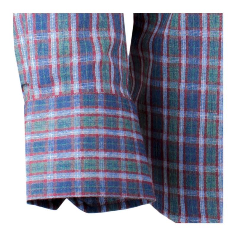 be4f20557bee ... Zeleno-modrá luxusní pánská flanelová košile teplá Tonelli 110910 ...