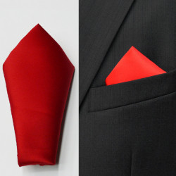 Červený vreckovka do saka Assante 90644