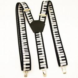Traky čierno biele klavír Xandy 90133