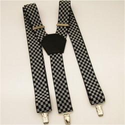 Traky čierno biela šachovnica Assante 90134