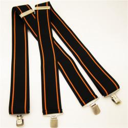 Čierno oranžové traky super široké Assante 90129