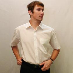 Šampaň pánska košeľa s krátkym rukávom rovná Friends and Rebels 40201