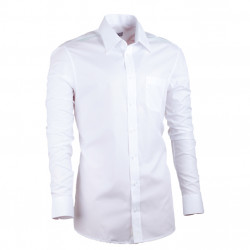 Extra predĺžená pánska košeľa slim biela Assante 20020
