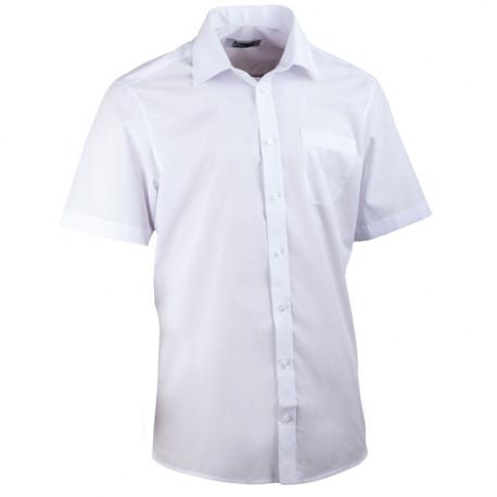 Biela pánska košeľa rovná Aramgad 40031