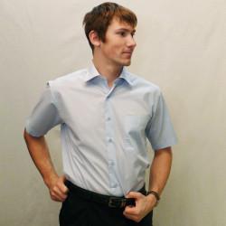 Modrá pánska košeľa s krátkym rukávom rovná Friends and Rebels 40401