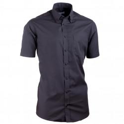 Košeľa Aramgad s gombíkmi v golierika vypasovaná čierna 40135