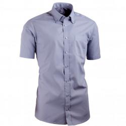Sivá košeľa s gombíkmi v golierika Aramgad vypasovaná 40137