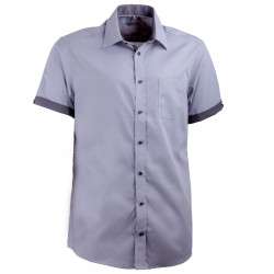 Sivá košeľa Aramgad rovná kombinovaná 40140