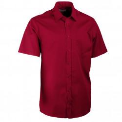 Vínovo červená pánska košeľa rovná Aramgad 40333