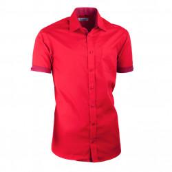 Červená košeľa Aramgad slim fit kombinovaná 40336