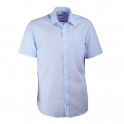 Modrá pánska košeľa rovná s krátkym rukávom Aramgad 40433