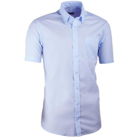 ba66352e4 Modrá pánska košeľa slim fit s krátkym rukávom Aramgad 40434