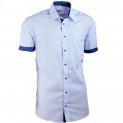 Košeľa modrá Aramgad slim fit kombinovaná 40338