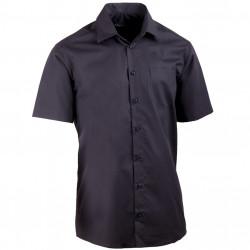 Čierna pánska košeľa rovná 100% bavlna non iron Assante 40116