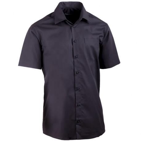 Nadmerná košeľa čierna 100% bavlna non iron Assante 41026