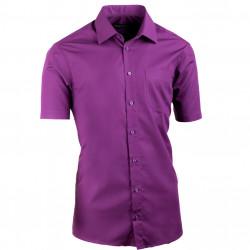 Fialová pánska košeľa Assante vypasovaná 40338