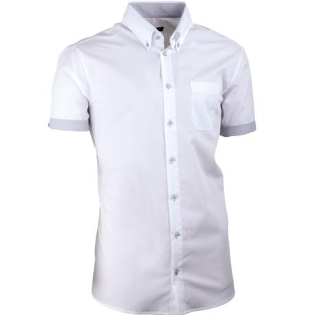 Biela pánska košeľa slim fit 100% bavlna non iron Assante 40008
