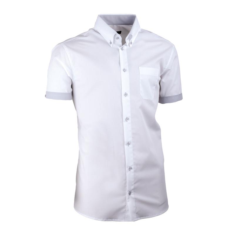 74cb11b4a Biela pánska košeľa slim fit 100% bavlna non iron Assante 40008 ...