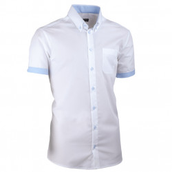Biela pánska košeľa slim fit 100% bavlna non iron Assante 40009