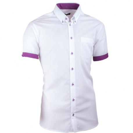 Biela pánska košeľa slim fit 100% bavlna non iron Assante 40010