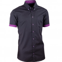 Čierna pánska košeľa slim fit 100% bavlna non iron Assante 40109