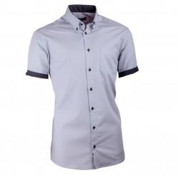 Pánska košeľa Assante slim sivá s čiernou 40117