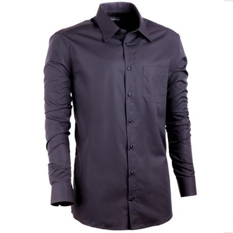 9184c9d33087 Predĺžená košeľa s dlhým rukávom slim čierna Assante 20106
