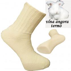 Béžové prírodné termo ponožky angora Assante 72201