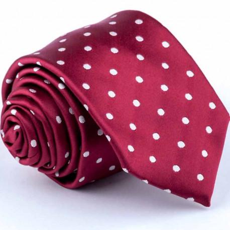 Bodkovaná červená kravata Greg 93176