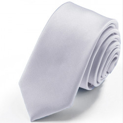 Strieborná slim fit kravata Greg 99118