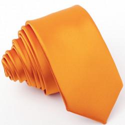 Pánska kravata slim oranžová Greg 99171