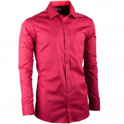 Vínová pánska košeľa regular fit s dlhým rukávom Aramgad 30381