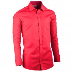Červená pánska košeľa slim fit s dlhým rukávom Aramgad 30382