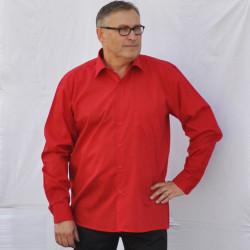 Predĺžená pánska košeľa červená Friends and Rebels 20303