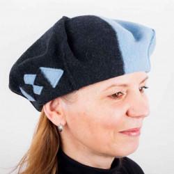Modrý dámsky elegantný baret TONAK 87227