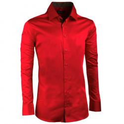 Pánska nadmerná košeľa 100% bavlna karmínová Assante 31030