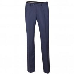 Modré pánske spoločenské nohavice na výšku 176 - 182 cm Assante 60521
