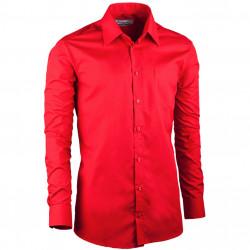 Červená á pánska košeľa slim fit s dlhým rukávom Aramgad 30384